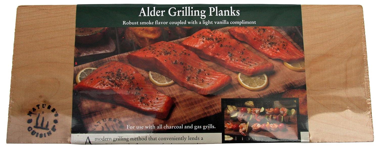 Nature's Cuisine NC005-4 14-Inch x 5.5-Inch Alder Grilling Planks, 4 per pack (Wood) Natures Cuisine