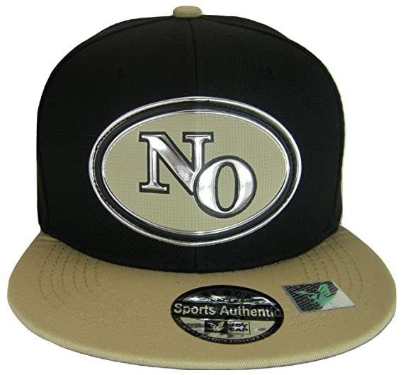 6e5c0f9f42893 New Orleans No Oval Style Cotton Adjustable Snapback Baseball Cap (Black  Khaki)