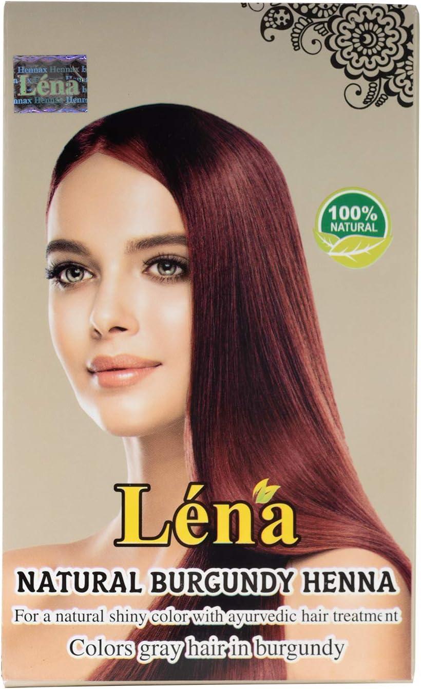 Henna burdeos para coloración y cuidado del cabello, 100% natural - 100 g