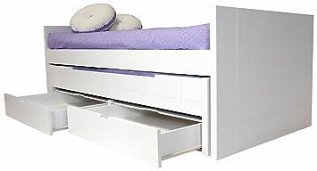 cama infantil juvenil dos camas con cajones en mdf dm cm de