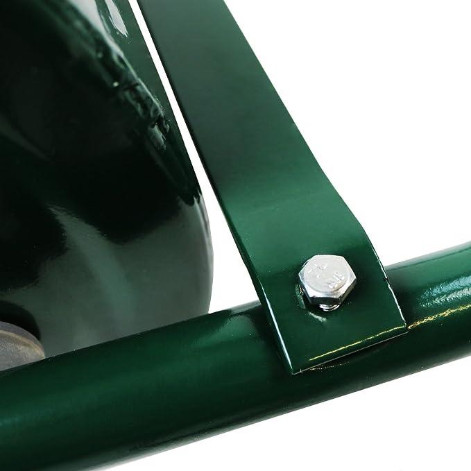 Oypla galvanizado Rodillo de jardín de Acero del césped 30 litros Rasqueta del Tambor Bar & Plegable Handle Crear un digno del césped de un Verde ...