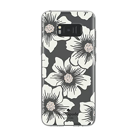 best website 0243e 9c250 kate spade new york Protective Hardshell Case for Samsung Galaxy S8 -  Hollyhock Floral Clear/Cream with Stones