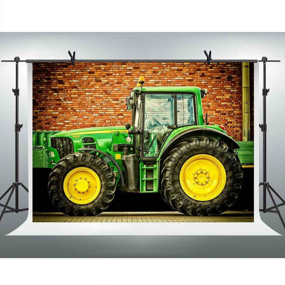 FHzONファームトラクター画像の背景写真10 x 7ftレッドレンガ壁Backdrop Portrait壁紙装飾YoutubeビデオStudio Backdrops写真ブース小道具gefh335   B07FVCLGQB