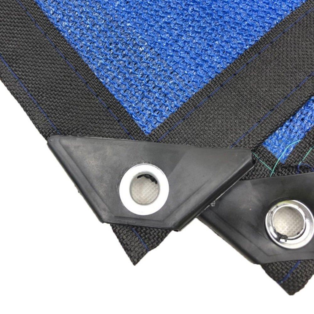 LQQGXL Shade net, Lichtschutzschirm Netzwerkverschlüsselung Stift 8 Blumengartenpflanzen Balkon Blumengartenpflanzen 8 Sun Isolierung Schutznetz, blau Tragbarer Sonnenschirm c12145
