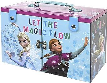 Frozen De La Reina De Hielo Makeup Maletín - Neceser Frozen, Set de Maquillaje para Niñas - Maquillaje Frozen - Selección de Productos Seguros en un Maletín de Maquillaje: Amazon.es
