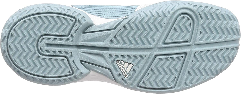 adidas Adizero Club K, Chaussures de Tennis Mixte Enfant Gris Ash Grey S18 Ftwr White Ftwr White Ash Grey S18 Ftwr White Ftwr White