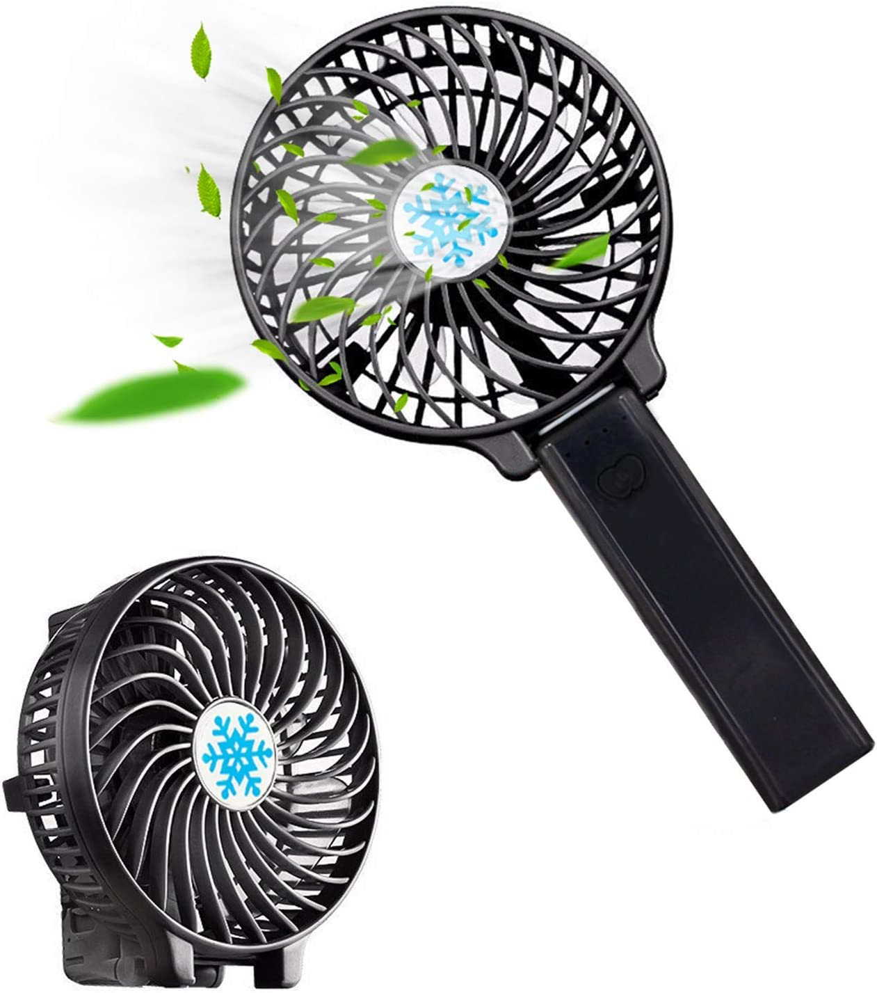 Rechargeable Portable LED Light Air Cooler Mini Personal USB Battery Fan for kid
