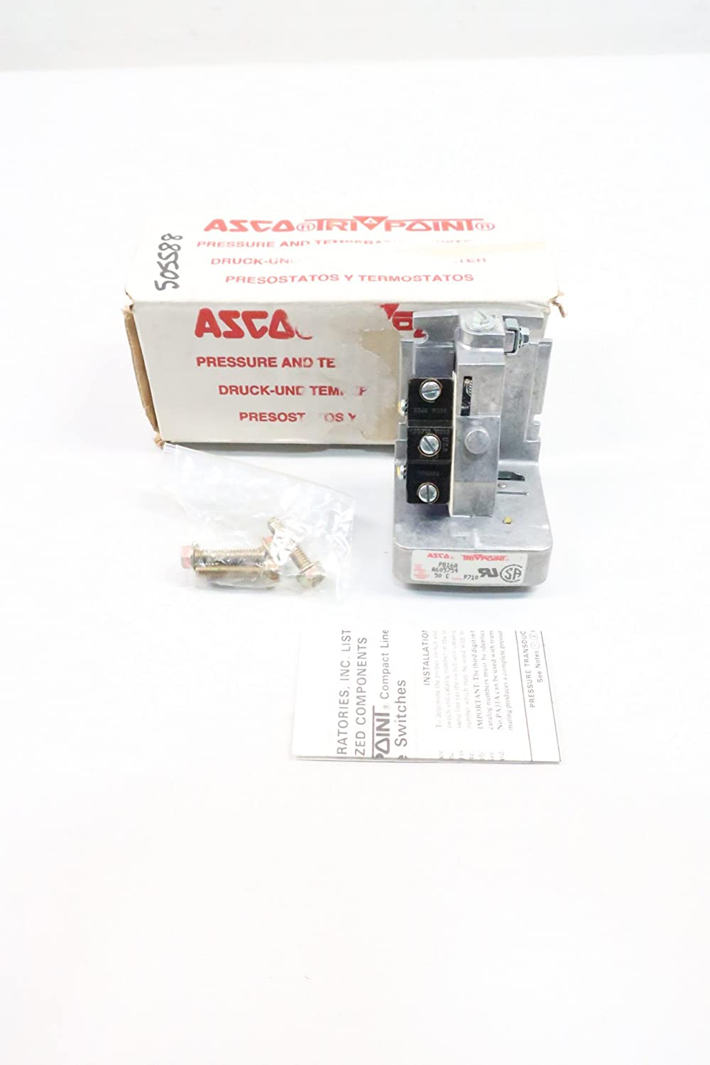 ASCO PB16A TRIPOINT PRESSURE SWITCH D619685: Amazon.com: Industrial & Scientific