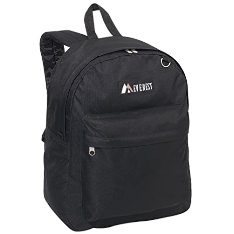 Amazon.com   Everest Luggage Classic Backpack, Black, Large   Backpacks ce4d1db197