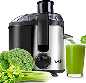 Juicer, Vegetable Juicer Machines Compact, Juicer Extractor 400W with Anti-Drip Design, Stainless, Easy to Clean, BPA Free (Silver)