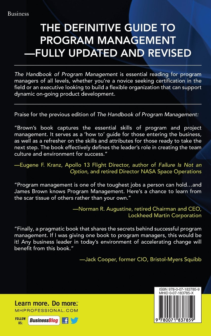 Buy The Handbook Of Program Management How To Facilitate Project