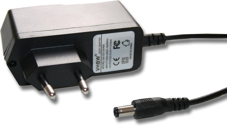 15.3V//210mA con Conector Redondo para Black /& Decker EPC12 e.o 12B Sustituye: HKA-15321. 220 V Fuente de alimentaci/ón Cargador 3.2 W