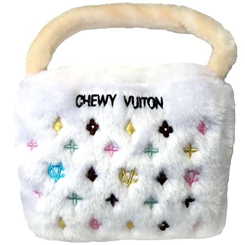 Chewy Vuiton Purse Toy (White) Large