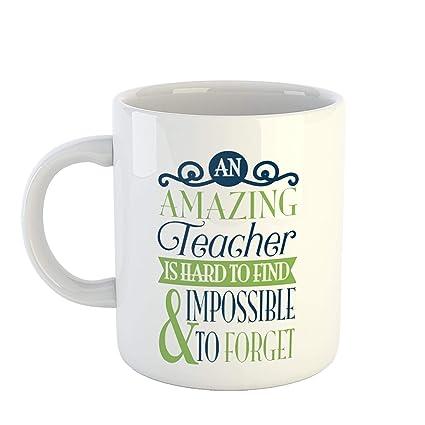 buy ikraft teacher mug an amazing teacher is hard to and