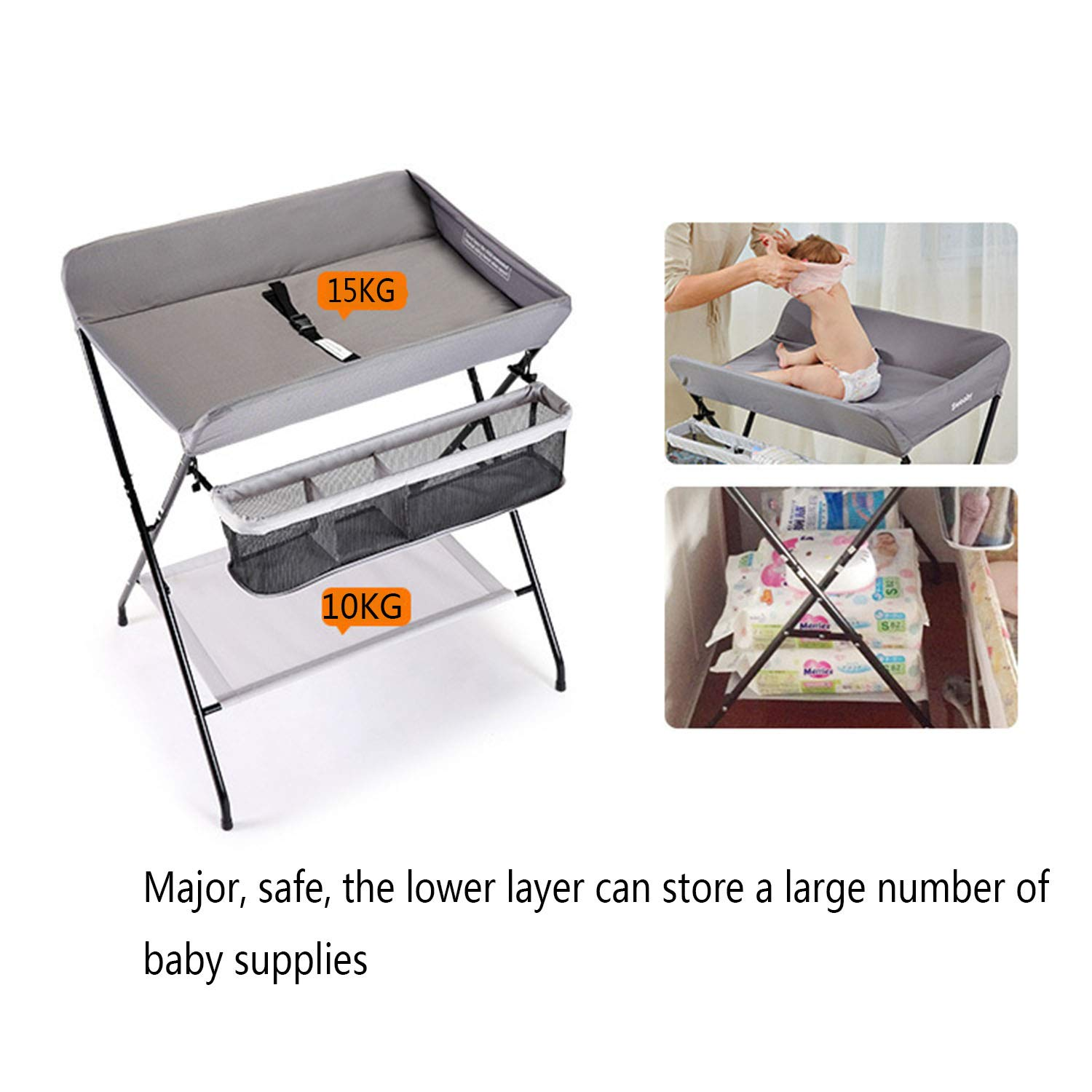 Massage Care Table,Touching Table Multi-Function Folding WSXX Newborn Baby Changing Clothes Diaper Table