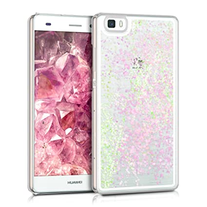 kwmobile hardcase Cover for Huawei P8 Lite (2015) with Liquid - hardcase backcover Protective case Water with Stars Snow Globe in Light ...