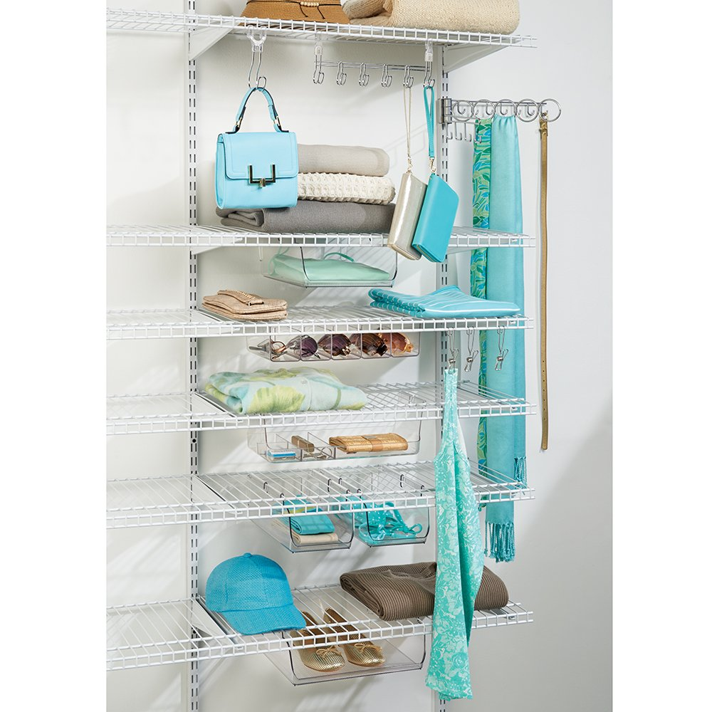 Amazon.com: InterDesign Wire Shelving Organizer, Under Shelf Hook ...