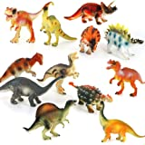 NUOLUX 12pcs Plastic Dinosaur Toy Set Realistic Dinosaur Figures Toys Kids Toddler Educational Toy