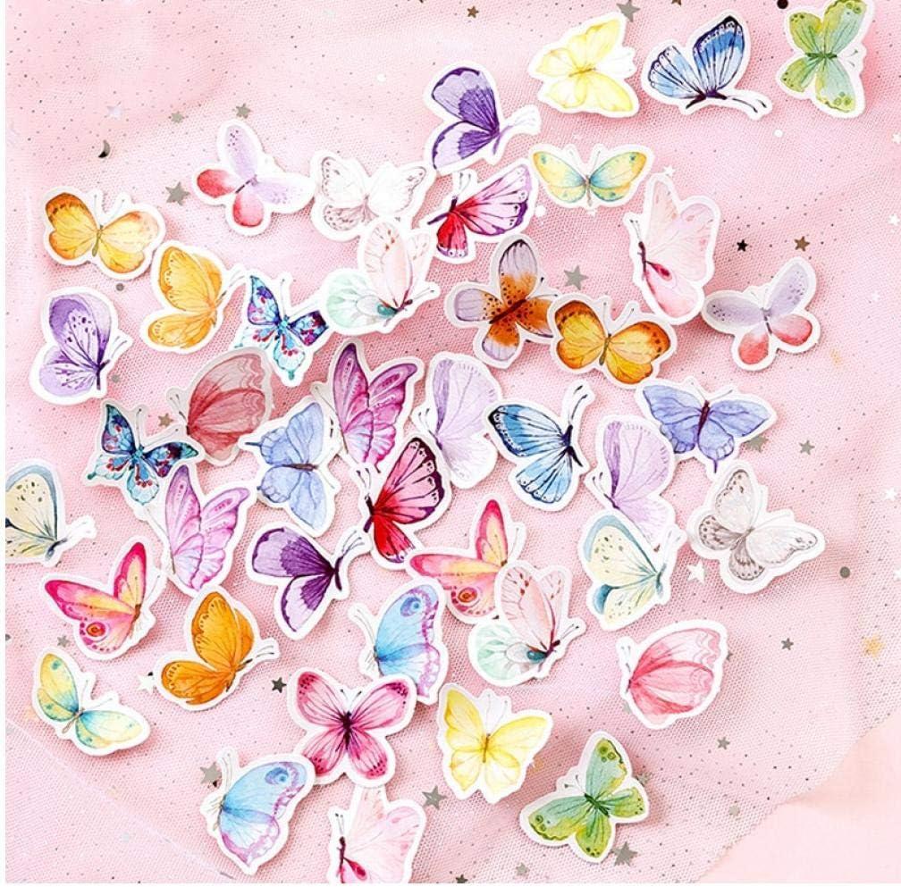 Zonster 46pcs Caja Linda de la Mariposa Pegatinas de Escritorio creativos Etiquetas engomadas Adhesivas Precioso para los ni/ños Diary /álbum de Recortes Foto Ablums
