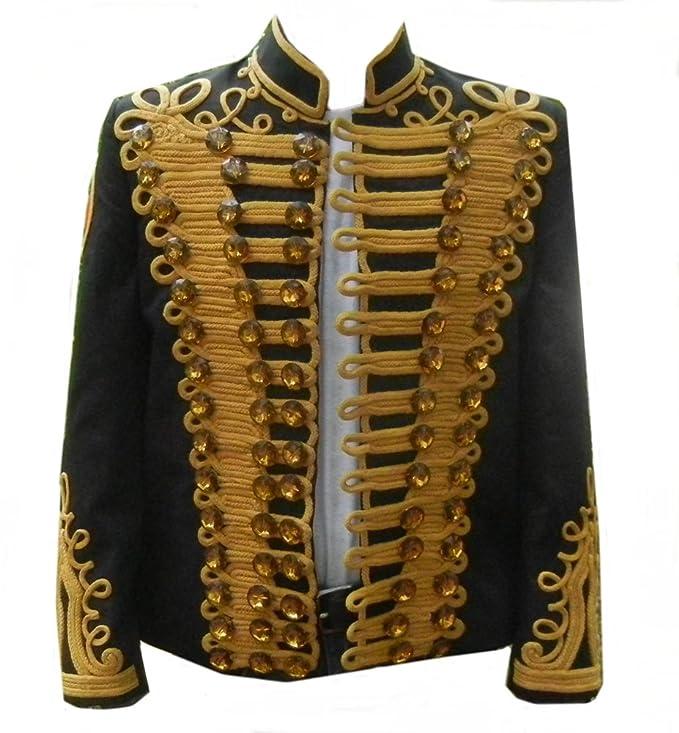 Amazon.com: Classyak MJK chamarra de estilo militar, color ...