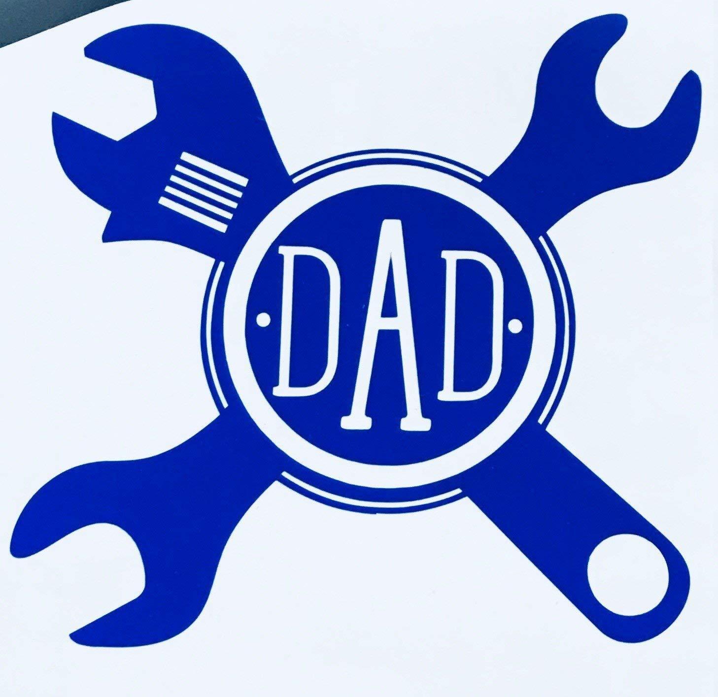 Amazon com custom initial monogram decal mechanics tool bumper sticker for tumblers coolers boats laptops car windows handy man monogrammed letters