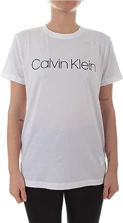 Calvin Klein Calvin Camiseta Blanca con Cuello Redondo para Mujer, K 2 0 1 3 65: Amazon.es: Ropa y accesorios