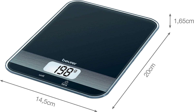 Beurer KS 34 Verre-Balance de cuisine balance avec Magic-DEL écran