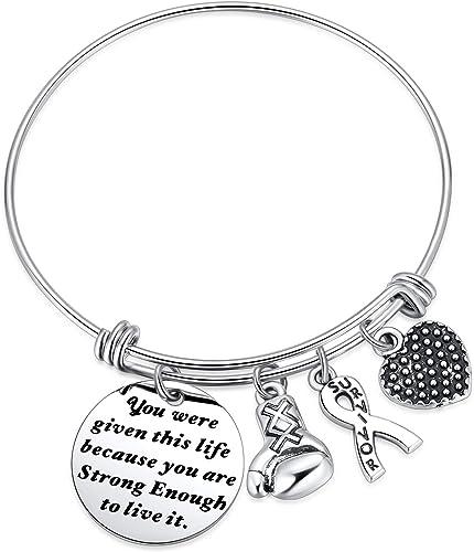 Survivor Gift Survivor Bracelet Awareness Jewelry Awareness Bracelet Pink Bracelet Breast Cancer Survivor Survivor Jewelry