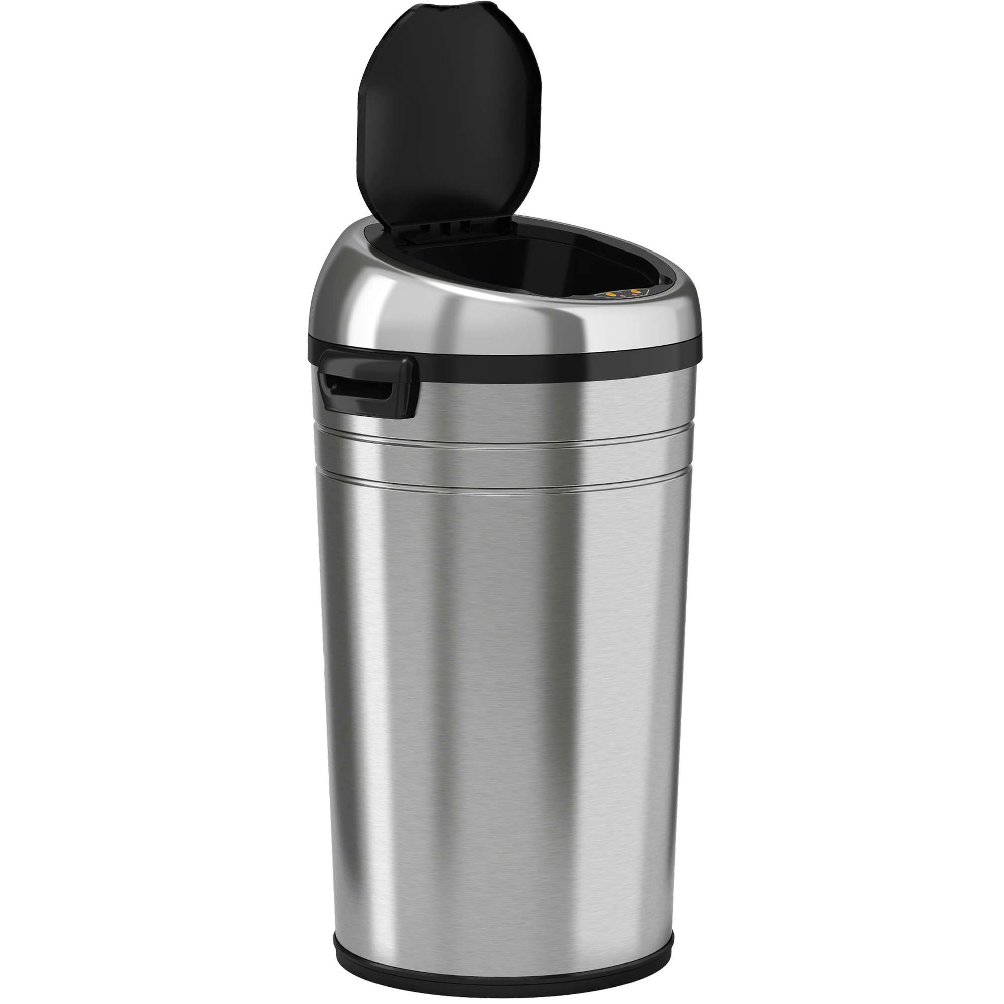 iTouchless Commercial Size Automatic Touchless Sensor Trash Can - Stainless Steel – 23 Gallon / 87 Liter – Round Shape