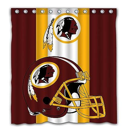 Amazon Potteroy Washington Redskins Team Simple Design Shower