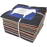 """30 5"""" 方形 * 羊毛毡美国颜色饰物包"""