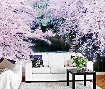 Yosot Benutzerdefiniertes Hintergrundbild Rosa Romantisch Cherry Tv ...