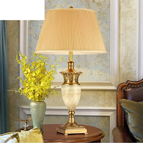 Copper Lamps Luxury Jade Big Lamp European Table Lamp