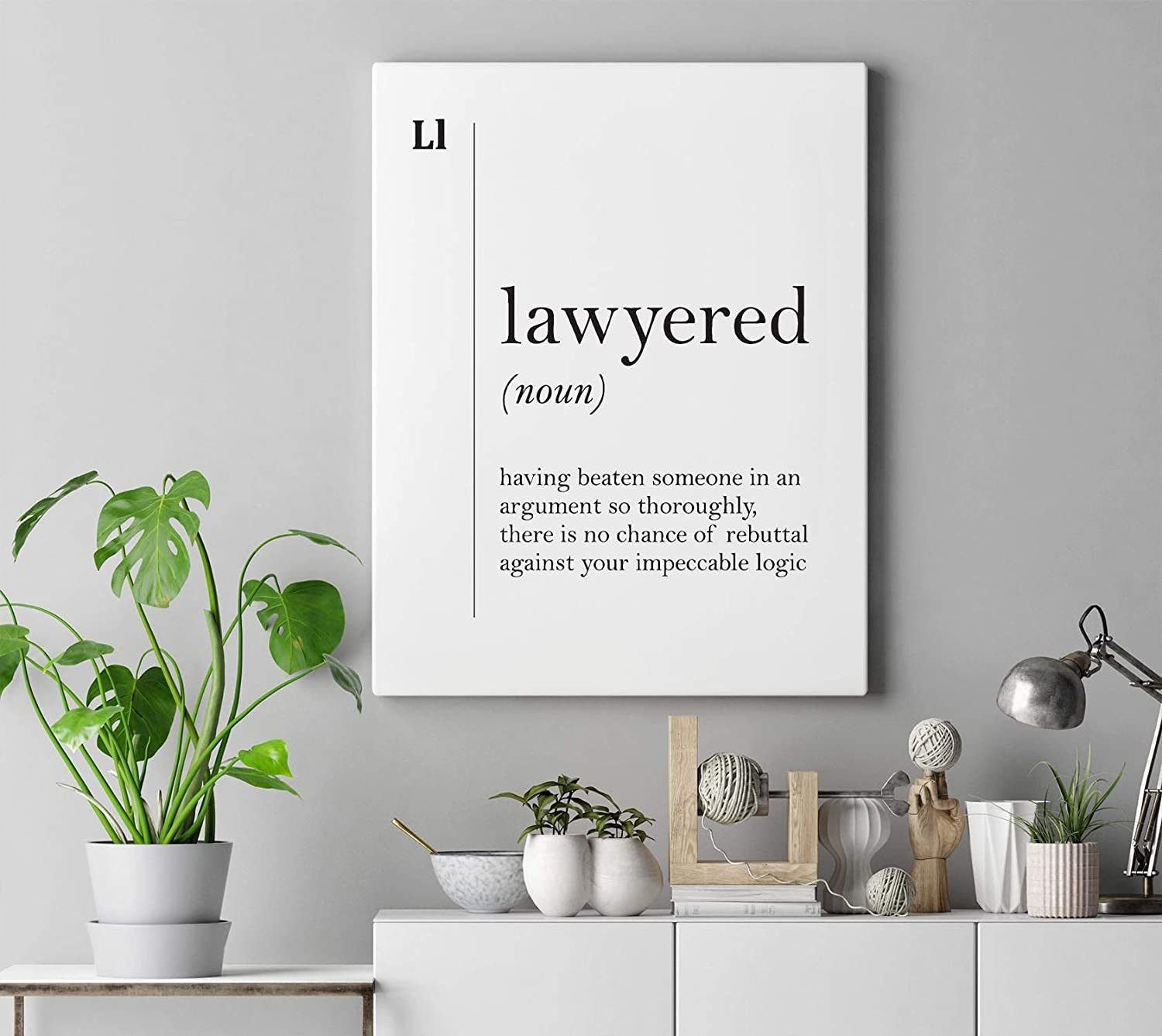 Dwi24isty Canvas Print Lawyer Gift Lawyered Definition Lawyer Canvas Art Lawyer Poster Attorney Gift Office Decor Lawyer Wall Art Law Coworker Gift