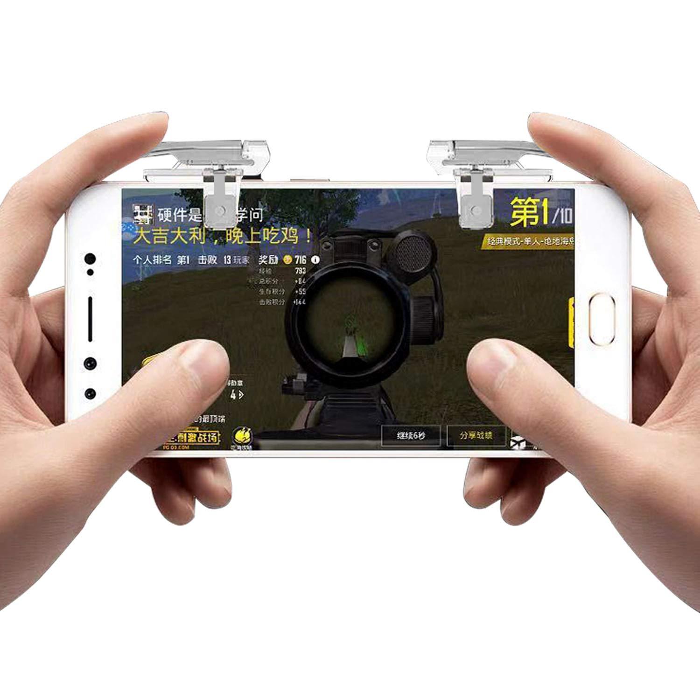 Newseego PUBG Mobile Game Controllers Controlador de Juego M/óvil PUBG Trigger L1R1 Disparadores de Punter/ía Sensible para Tel/éfono M/óvil para PUBG//Knives out//Rules of Survival