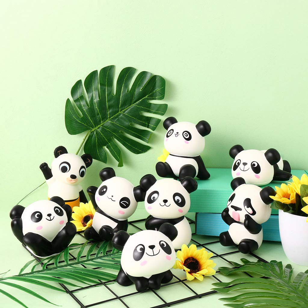 1KTon 8 Pcs Squishier Panda Slow Rising Scented Kawaii Squishier Animal Toy by 1KTon