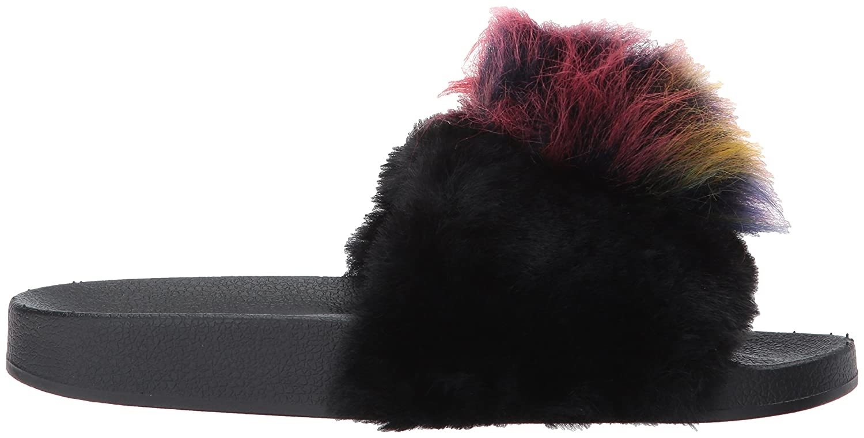 Steve Madden Women's Spiral B(M) Slide Sandal B073RFFG4B 11 B(M) Spiral US Black/Multi dd23f8