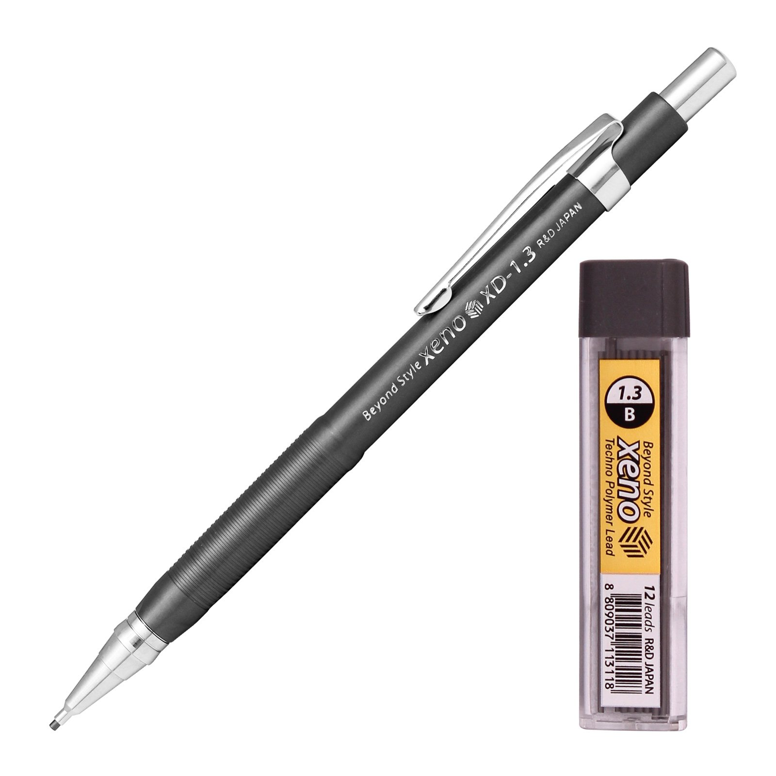 Xeno Beyond Style-Xd Mechanical Pencil for Drafting Sharp Pencils 0.3 mm /0.5 mm /0.7 mm /0.9 mm/ 1.3 mm (Pack of 5 Pencils) + Lead by Xeno (Image #3)
