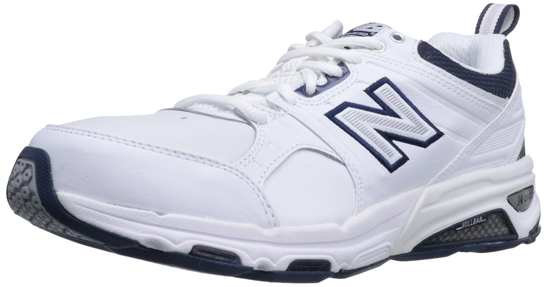 New Balance Men's MX857 Cross-Training Shoe B0098IKIPM 7 D(M) US White/Navy