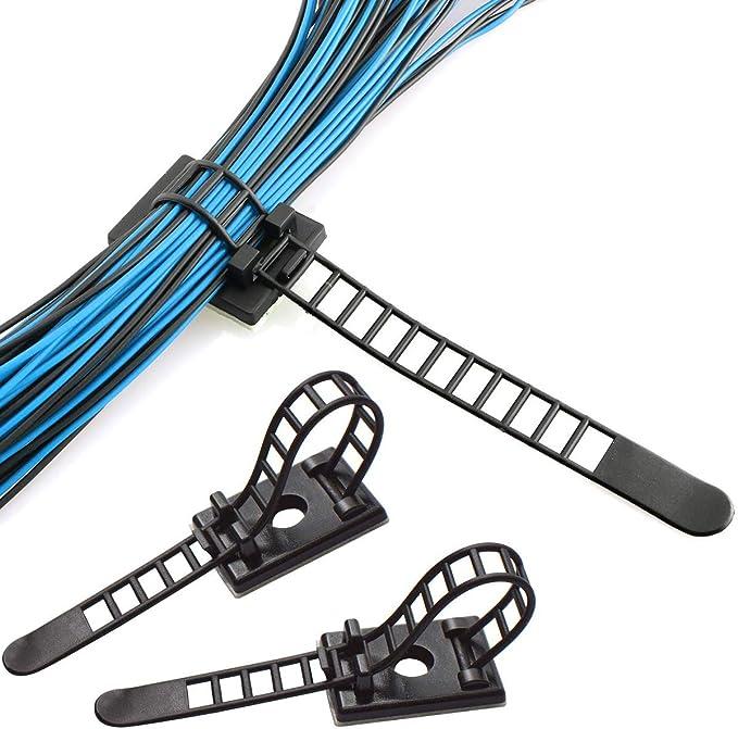 Stifthalter f/ür die Organisation von elektrischen Dr/ähten 8 mm TV Stahln/ägel wei/ß Kabelleitungen 100 St/ück Runde Kabel-Clips