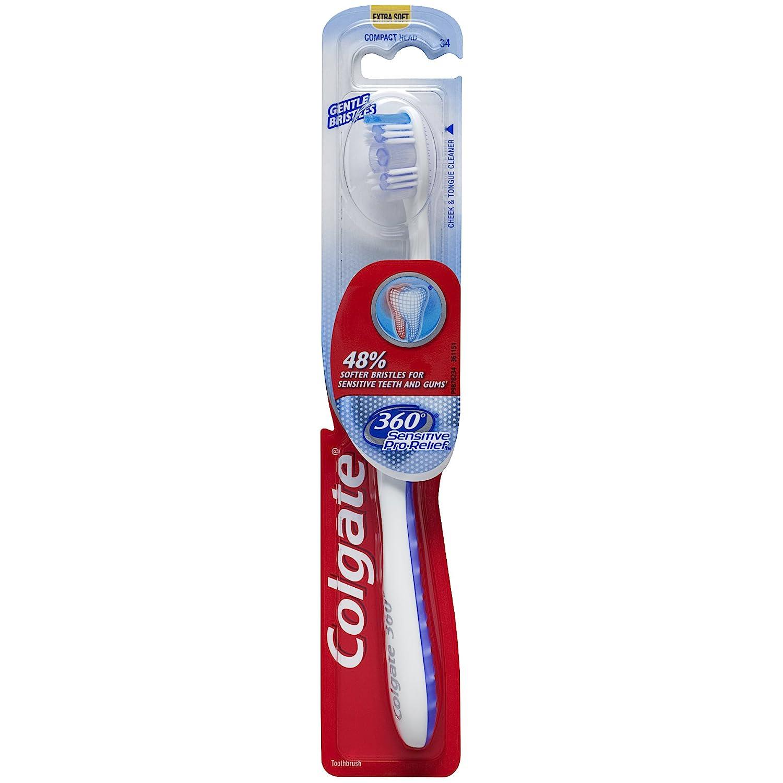 Colgate 360 Sensitive Pro-Relief Slim - Cepillo de dientes, extra suave (colores variados): Amazon.es: Industria, empresas y ciencia