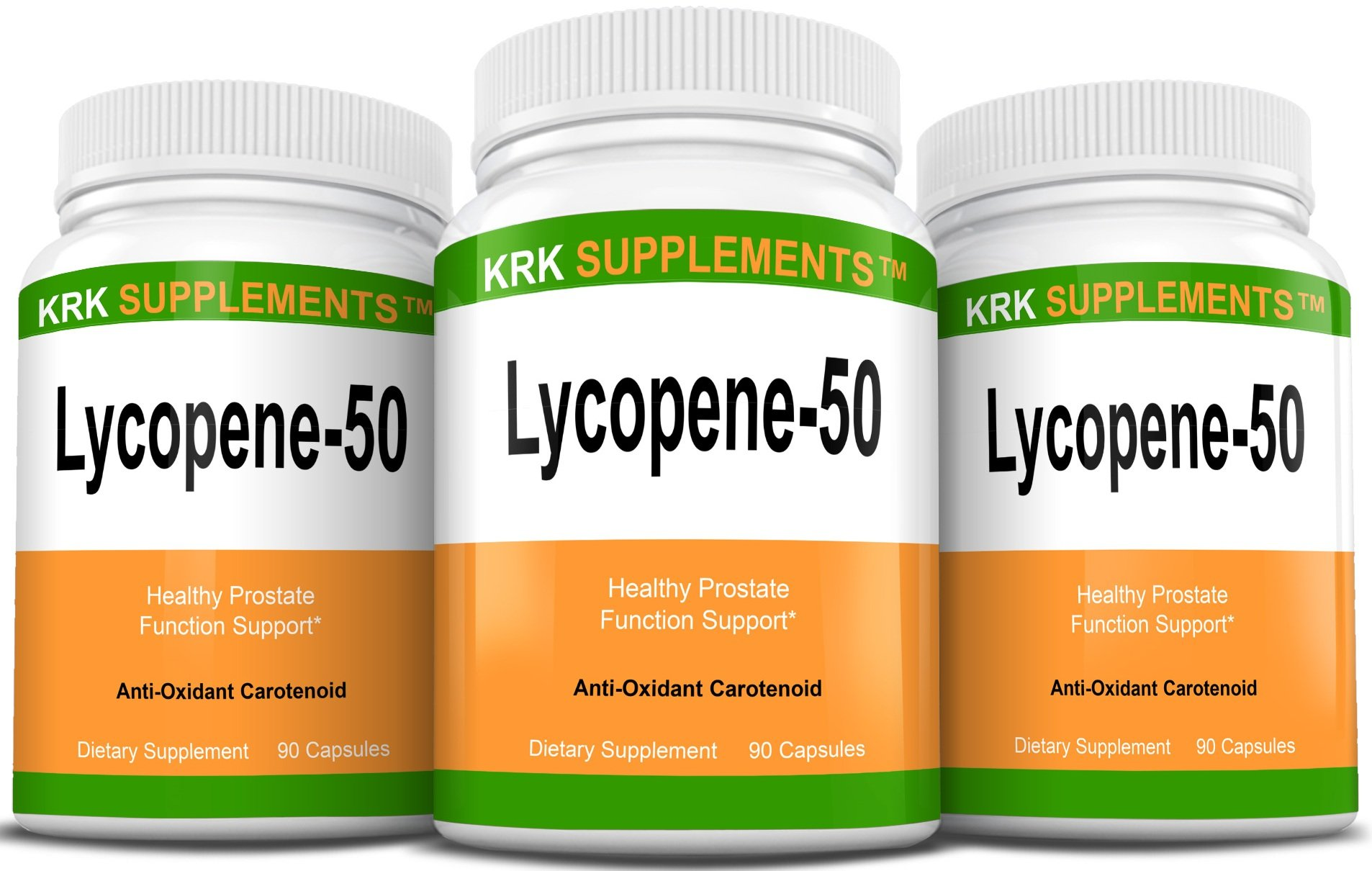 3 Bottles Lycopene 50mg 270 Total Capsules KRK Supplements
