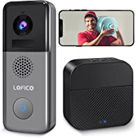 Video Doorbell Camera, LOFICO 2K WiFi Wireless Rechargeable Battery Powered Doorbell Camera with Wireless Chime, Motion…