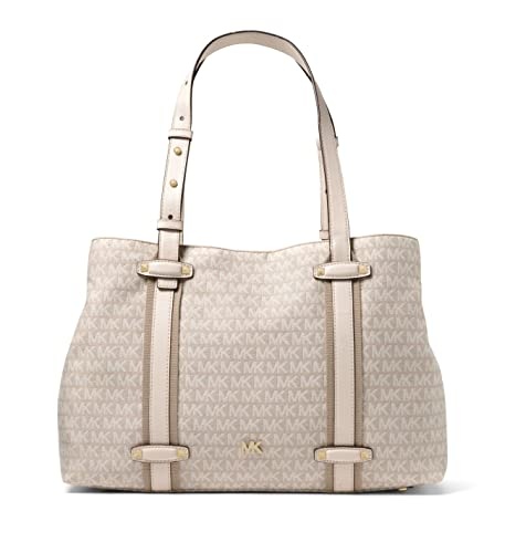 7890c7a889 MICHAEL MICHAEL KORS Griffin Large Logo Jacquard Tote: Amazon.co.uk ...