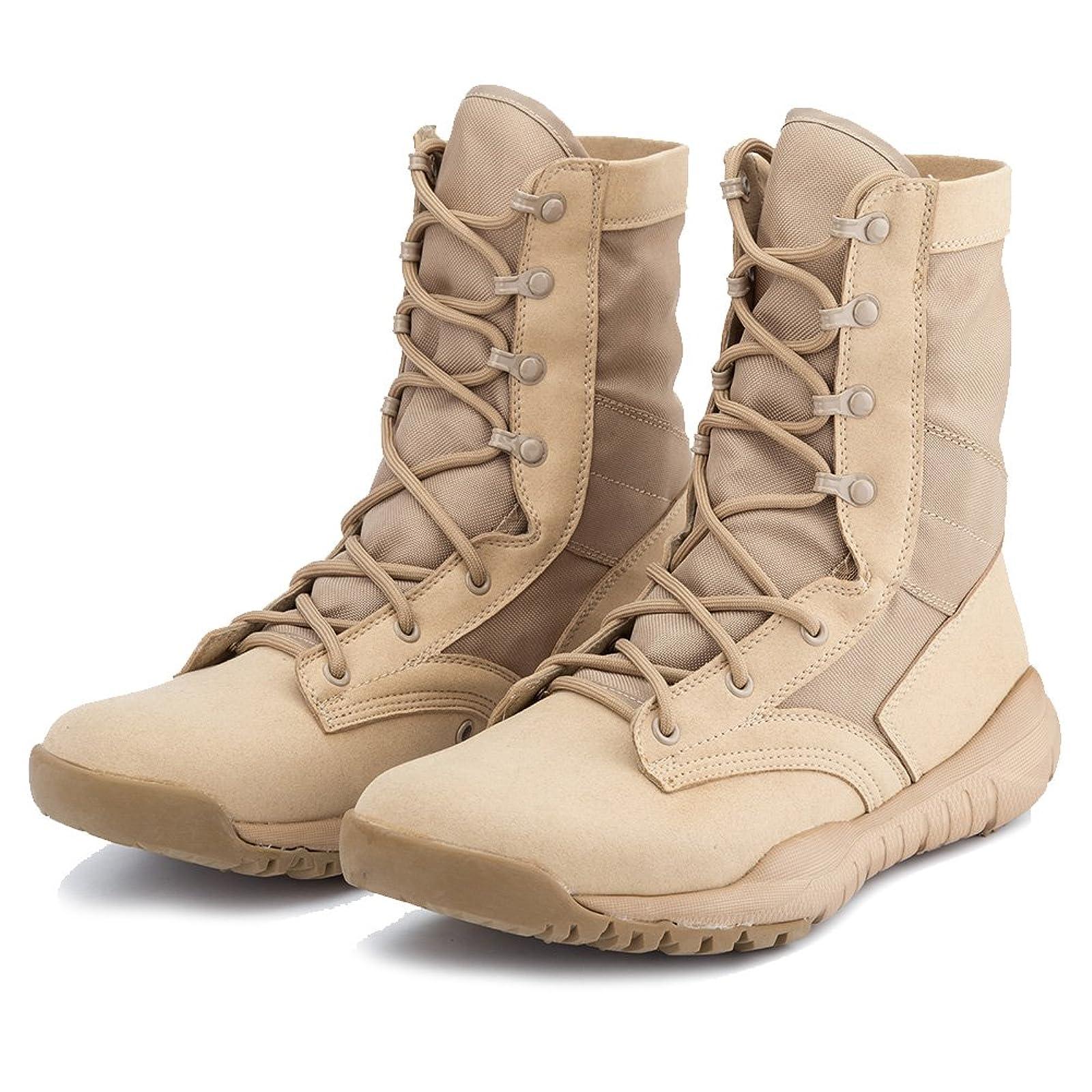 IODSON US Mens' Ultra-Light Combat Boots Beige 9.5 M US - 2