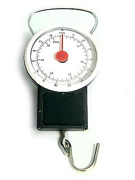 Maletín Báscula con cinta métrica Báscula analógica maletín + de equipaje Balanza colgante: Amazon.es: Electrónica