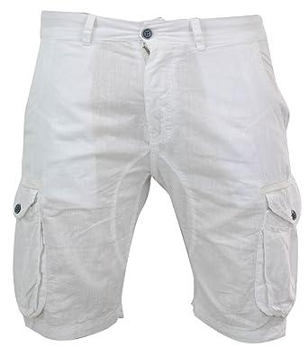 5f9a08a920f Tony Moro Mens Linen Shorts Combat Pockets Smart Casual Beach Holiday  Summer Wear  Amazon.co.uk  Clothing