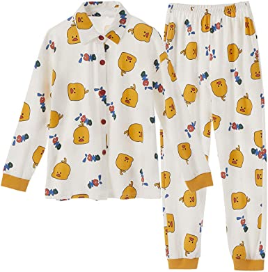 Goso Pijama Para Ninas Con Estampado De Dibujos Animados Y Pantalones Largos Ropa De Dormir Para Ninos Blanco Blanco Medium Amazon Es Ropa Y Accesorios