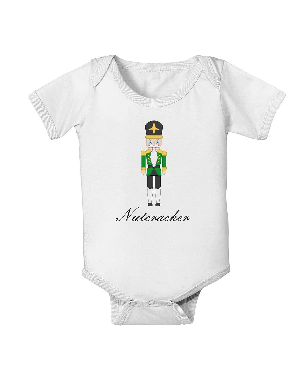TooLoud Nutcracker Green Gold Black Text Baby Romper Bodysuit