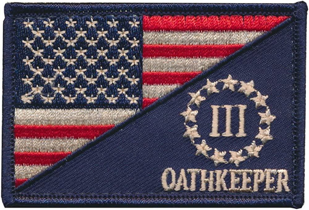 American USA flag OATHKEEPER ARMY Tactical Morale Badge Hook Embroidered Patch